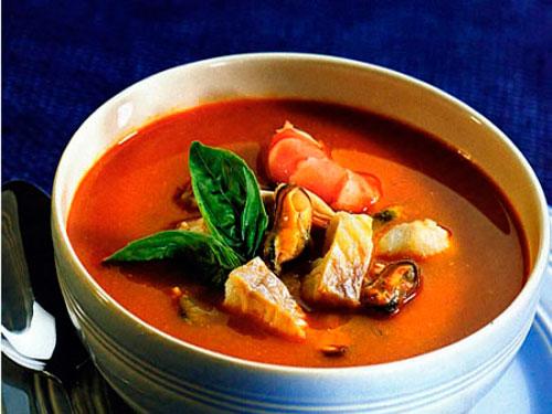 вкусное блюдо из рыбы суп буйабес