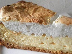 творожный пирог из песочного теста